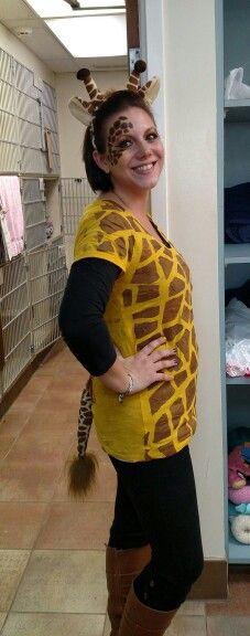 Homemade giraffe costume                                                        …
