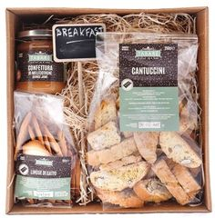Breakfast Box  Live the experience of the Sicilian breakfast, every day at your home!  #sicily #biscuits #breakfast #sicilianbreakfast  #sicilianproducts #jam #tabarè #cantuccini #cat'stonguebiscuits #goodmorning