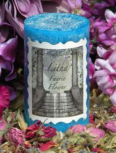 Faerie Flower Litha Shimmering 2x3 Pillar Candle . Lavender, Musk, Sandalwood, Moss & Violet . Summer Solstice, Midsummer, Faerie Magick by WhiteMagickAlchemy on Etsy https://www.etsy.com/listing/74104558/faerie-flower-litha-shimmering-2x3