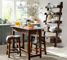 Balboa Counter-Height Table & Stool 3-Piece Dining Set, Espresso #potterybarn