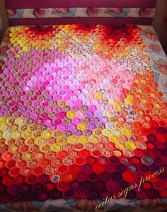 "a must-try idea, crochet version of ""beekeepers"" quilt"