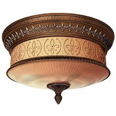 Portfolio Bronze Ceiling Flush Mount lowes.ca  $90  306175