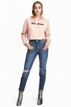 Vintage High Trashed Jeans - Dark denim blue - Ladies | H&M GB 1