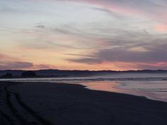 Stunning sunset at Ohiwa Beach, Bay of Plenty, Nth Is, NZ - June 2014