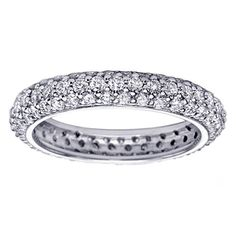 Platinum All Around Pave Set Diamond Eternity Ring (2.00-2.20 CT TDW) $2,699.00 #VIPJewelryArt