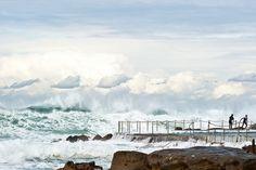 Rough seas at Bronte Beach, Sydney Australia