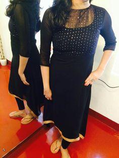 She kurti designs Salwar Neck Designs, Kurta Neck Design, Kurta Designs Women, Dress Neck Designs, Blouse Designs, Churidhar Designs, Salwar Pattern, Simple Kurti Designs, Kurti Designs Party Wear