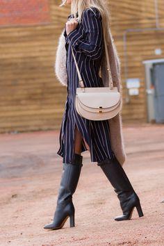 Chloe Georgia and Valentino braid boots on The Boyish Girl