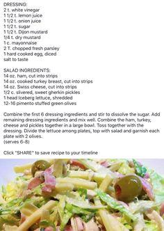 Hudson's Maurice Salad Pappas Greek Salad Recipe, Greek Salad Recipes, Salad Dressing Recipes, Salad Dressings, New Recipes, Cooking Recipes, Favorite Recipes, Healthy Recipes