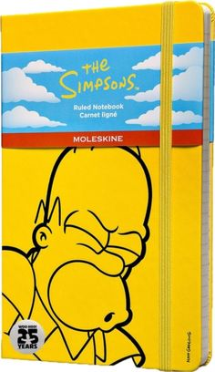 Moleskine The Simpsons Limited Edition Hard Yellow Ruled Large Notebook (9788867324286) | hive.co.uk