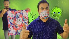 Turn your handkerchief in to a face mask Face mask with kerchief DIY mask Easy Homemade Face Masks, Easy Face Masks, Diy Face Mask, Sewing Hacks, Sewing Projects, Diy Crafts Hacks, Kerchief, Pocket Pattern, Diy Mask