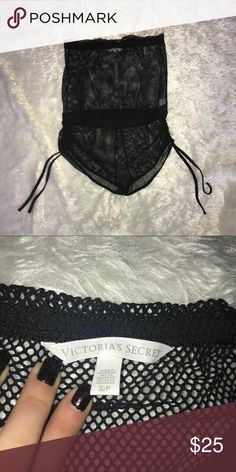 Victoria's Secret Mesh Swim Romper Great for over swimsuits, make offers! Victoria's Secret Swim Coverups