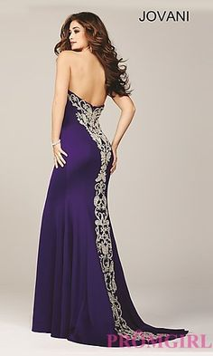 Jovani Long Strapless Sweetheart Prom Dress