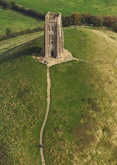 St. Michael's Tower (1360) Glastonbury Tor, Glastonbury, Somerset, UK
