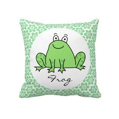 Happy Frog Pillow..so cute