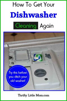 If you have lots of food residue still stuck on your dishes, try this before you ditch your old washer.