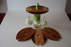 Beautiful wooden wine glass holders  http://www.facebook.com/pages/Exotic-Domestic-Wood-Art/286231681416612