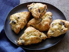 Blueberry Scones with Lemon Glaze Recipe | Tyler Florence | Food Network