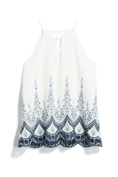 Stitch fix spring 2018:  Sophia, can I please have this top? I love feminine details like embroidery, tiny buttons, etc.  So classy and pretty!