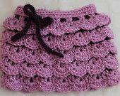 Girl Crochet Ruffle Skirt