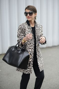 Love The Leopard Coat & Givenchy Bag