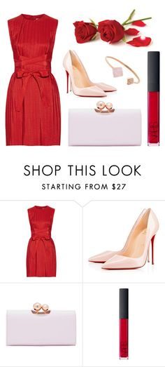 """""""Valentine's Day Outfit"""" by tl3central ❤ liked on Polyvore featuring Victoria, Victoria Beckham, Christian Louboutin, Ted Baker, NARS Cosmetics, Michael Kors, women's clothing, women, female, woman and misses"""