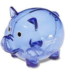 """#4imprint Need these to say """"CTMH $$$"""" and give to all my customers :) Piggy Bank, Giveaway, Money Box, Savings Jar"""