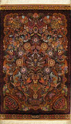 Qum Silk Persian Rug