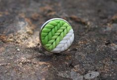 #ring #polymerclay #jewelry #knitted