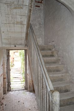 prison entrance and staircase to first floor cells..