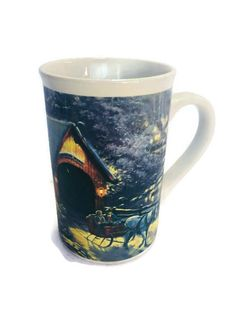 Thomas Kinkade Winter Evening Memories 2008 Mug Dishwasher and Microwave Safe