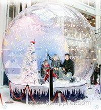 Giant Inflatable Human Snow Globe for Christmas.