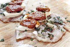 Cucinare con amore: Kuřecí prsa ala Caprese Caprese, Allrecipes, Camembert Cheese, Dairy, Food And Drink, Treats, Chicken, Dinner, Italy