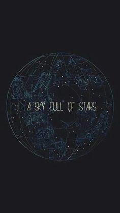 Um céu cheio de estrelas.