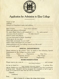 Check Out What A College Application Looked Like in 1922!   Michael Berry on KTRH