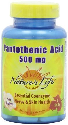 Nature's Life Pantothenic Acid Tablets, 500 Mg, 100 Count -- Want to know more, click on the image.