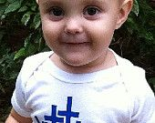 #TwoThousandKissesaDay #giveaway (see related pin) Little Hearts White Onesie with Blue Lettering $7.00 www.littleheartsbooks.com