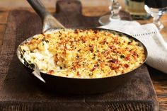 Fondue-style macaroni cheese There is no such thing as too much cheese in this creamy macaroni bake.