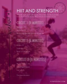 This quick and sweaty HIIT and strength workout is part of The Fitnessista's 2018 Winter Shape Up. Follow along for the other workouts in the shape up!
