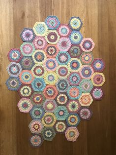 Hexagons. Attic24 pattern. King Cole Cottonsoft yarn. King Cole, Hexagons, Pattern, Handmade, Hand Made, Patterns, Craft, Model, Vorlage