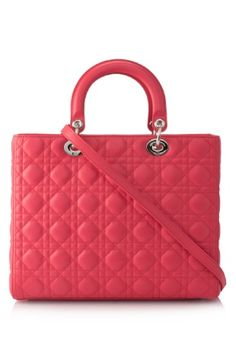 Christian Dior Lady Dior Large Bag..in gorgeous coral