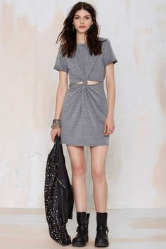 Knot About It Cutout Dress - Day | Shift | Basic