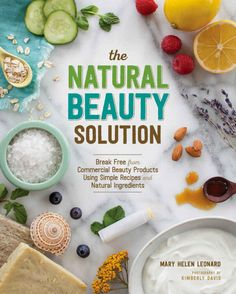 The Natural Beauty Solution - A step-by-step guide to replacing commercial beauty products with a 100% natural routine. It features two-dozen easy-to-follow, customizable recipes for natural skin care that are not only provide a healthy alternative to mass-produced products, but will also make your skin and hair look their best while tackling issues like eczema, psoriasis and acne.
