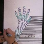 """Easy art project. Inspiration from M.c. Escher's """"drawing hands""""."""
