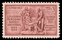 1953 3c Louisiana Purchase Scott 1020 Mint F/VF NH  www.saratogatrading.com