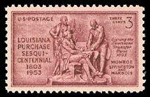1953 3c Louisiana Purchase Scott 1020 Mint F/VF NH  www.saratogatrading.com