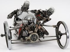 Car parts sculpter James Corbett