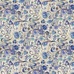 Rossi Florentine Print - Art Nouveau in Blue