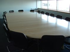 High gloss Maple conference table
