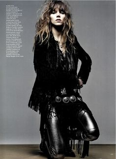 Vogue may 2014 wearing antique Jessie western concho belt , silver and  turquoise belt ,